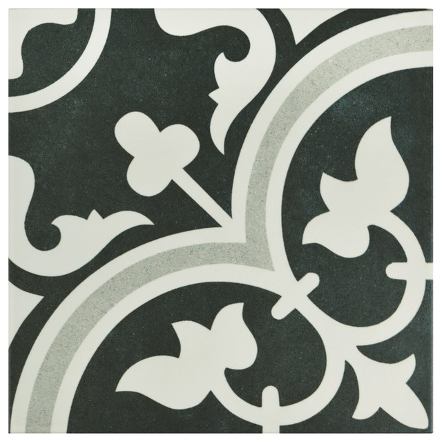 "9.75""x9.75"" Art Porcelain Floor And Wall Tile, Due, Set Of 16."