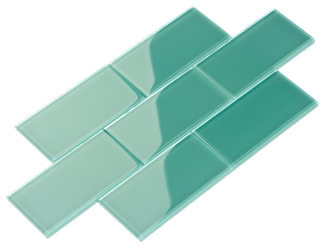 "3""x6"" Subway Collection, Set of 44, Teal"