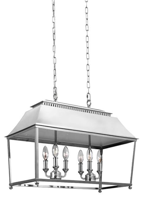Galloway 6-Light Island Pendant, Dark Antique Copper/Antique Copper - Industrial - Kitchen ...