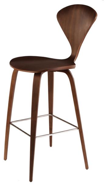 Incredible Satine Barstool Dark Walnut Inzonedesignstudio Interior Chair Design Inzonedesignstudiocom