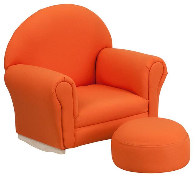 Flash Furniture Kids Orange Fabric Rocker