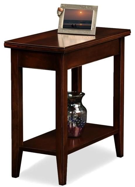 Truman Side Table, Chocolate Cherry.