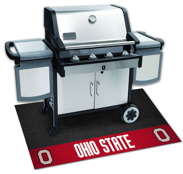 Ohio State Buckeyes Bbq Grill Mat.