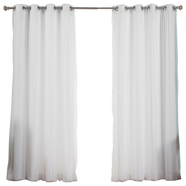 Tulle Lace And Nordic White Curtain Set Contemporary