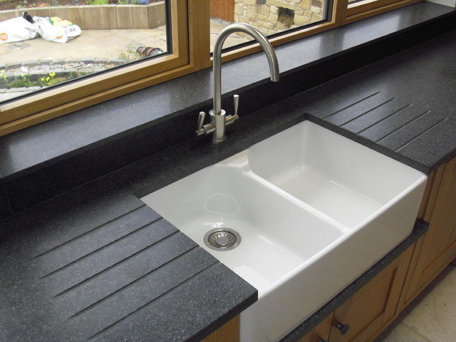 Nero Impala Honed Granite With Belfast Sink amp Drainer