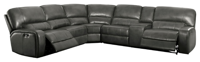 Prime Acme Saul Power Reclining Sectional Sofa Gray Leather Aire Andrewgaddart Wooden Chair Designs For Living Room Andrewgaddartcom