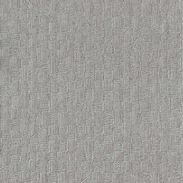 Geometric Textured Woven Basket Wallpaper, Metallic Gray, Bolt