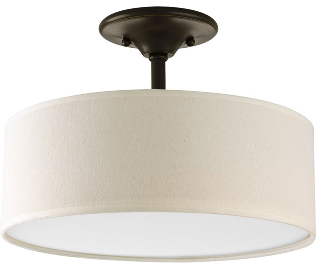 2-Light Semi-Flush, Antique Bronze.