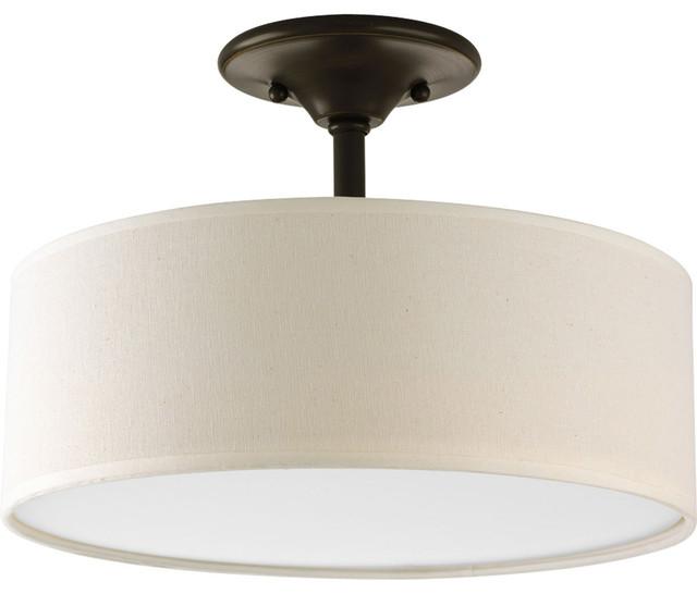 "Progress Lighting P3939-20 Inspire 13"" Two-Light Semi-Flush Ceiling Fixture"