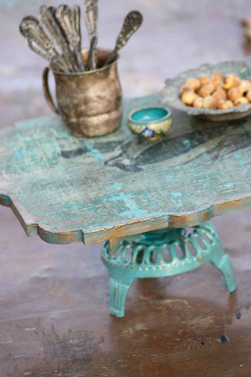 Woodland Keepers Cake Stand by Patina Vie eclectic serveware