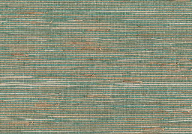 Keiko Aqua Grasscloth Wallpaper Tropical Wallpaper