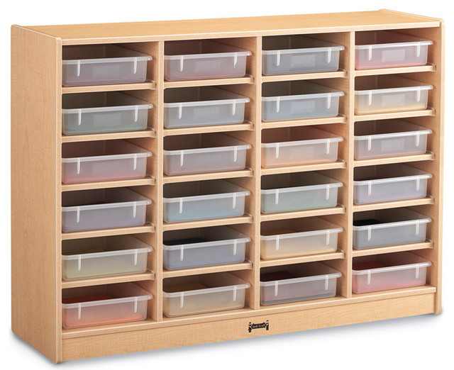 Maple Wave 24 Paper Tray Cubbie Hole Unit (Clear Trays) - Contemporary - Toy Organizers - by ...