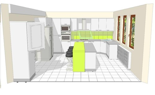 Here Is A Plan Of The Kitchen And Something I Drew Quickly In Paint To Show  How The Dining Room And The Hallway Relates To The Kitchen (sorry About The  Bad ...