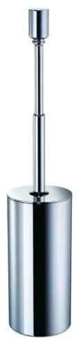 Free Standing Brass Round Toilet Brush Holder With Cover, Chrome
