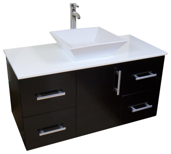 Modern Contemporary Bathroom Vanity  WALL MOUNT   Espresso  42   contemporary bathroom. Shop Houzz   Wholesale Direct Unlimited Modern Contemporary