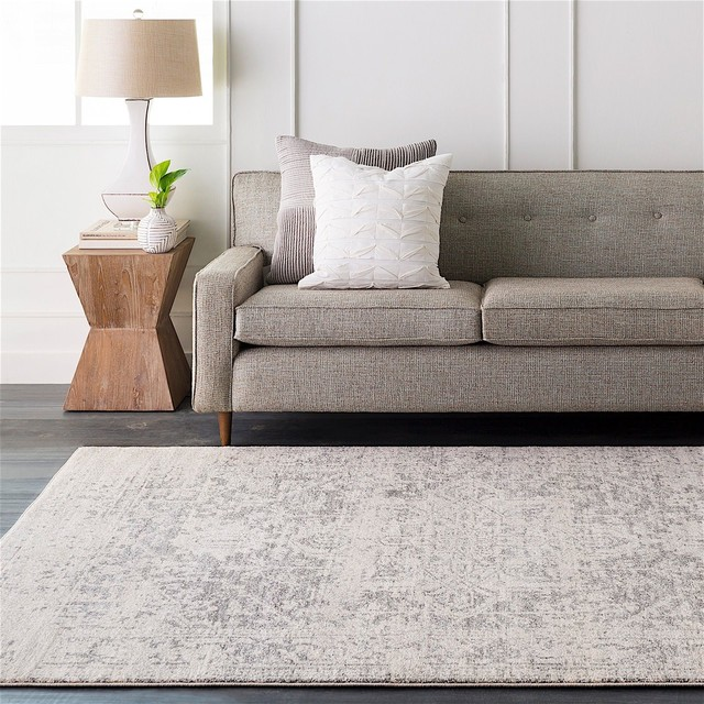 "Harput Area Rug, Rectangle, Neutral-Gray, 7&x27;10""x10&x27;3""."