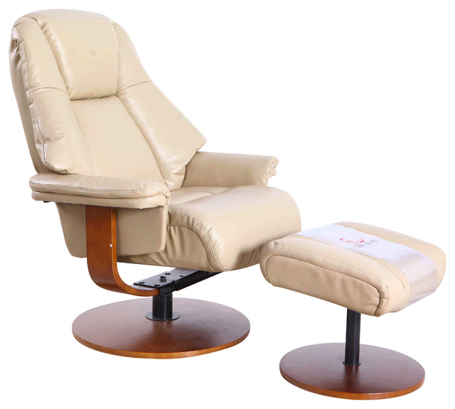 Relax R Lindley Recliner And Ottoman Cobble Air Leather