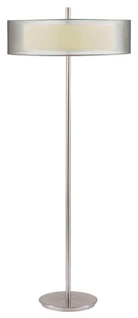 Sonneman 3-Light Puri Floor Lamp In Satin Nickel - 6016-13.