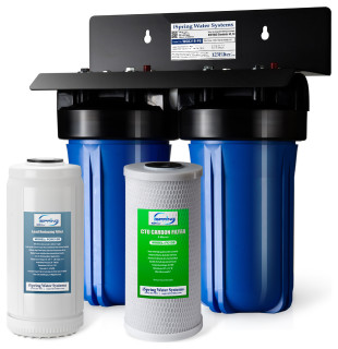 Ispring 2 Stage Lead Reducing Whole House Water Filtration System Contemporary Systems By Houzz