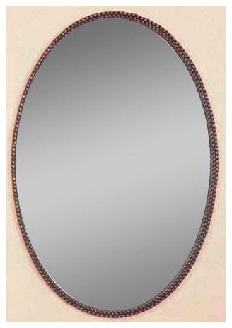 Braided Oval Mirror Rustic Bathroom Mirrors By