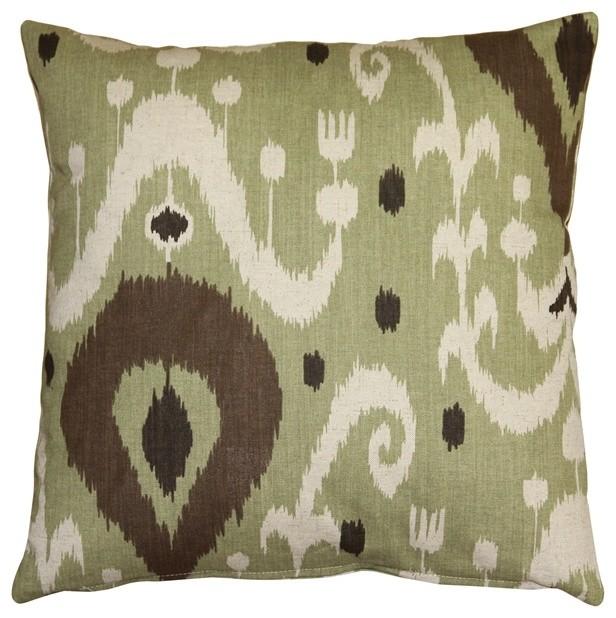 Pillow Decor - Indah Ikat Throw Pillow - Contemporary - Decorative Pillows - by Pillow Decor Ltd.