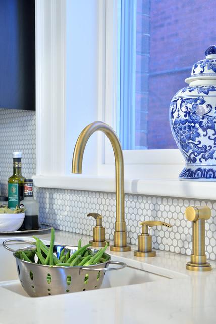 French Bistro Inspired Kitchen Riverdale Inteior Design Toronto