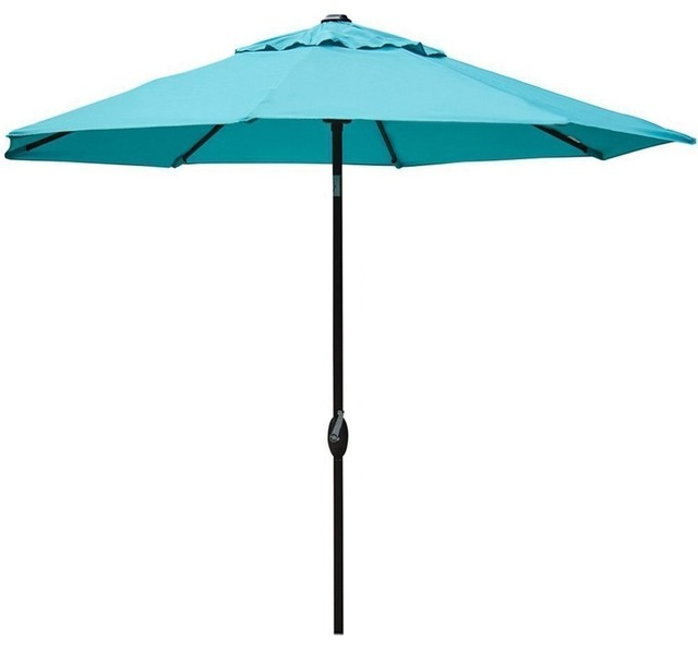 Bliss Hammocks 9&x27; Market Umbrella Allum With Crank Open System And Tilt
