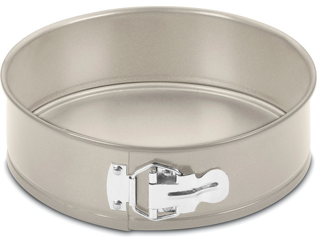 "Chefs Classic Non-Stick Metal 9"" Springform Pan, Champagne."
