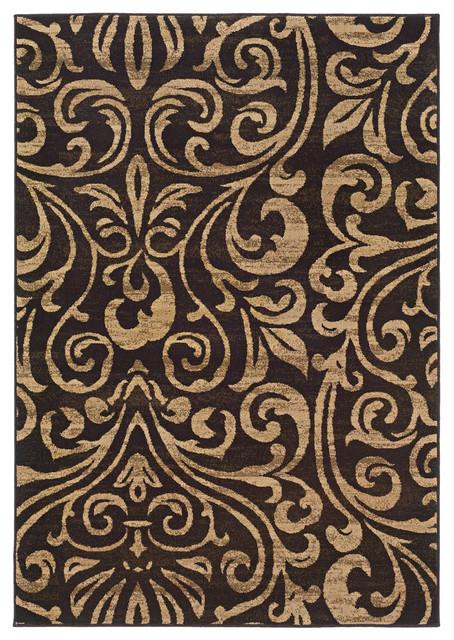 Oriental Weavers Emerson 2033c Black Rug Contemporary
