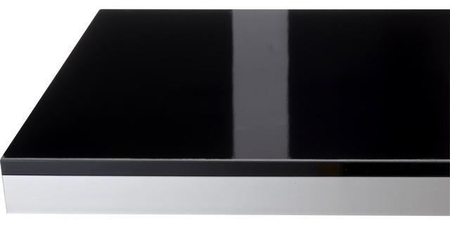 Plan de travail stratifi noir brillant x cm mm contempor - Plan de travail brillant ...