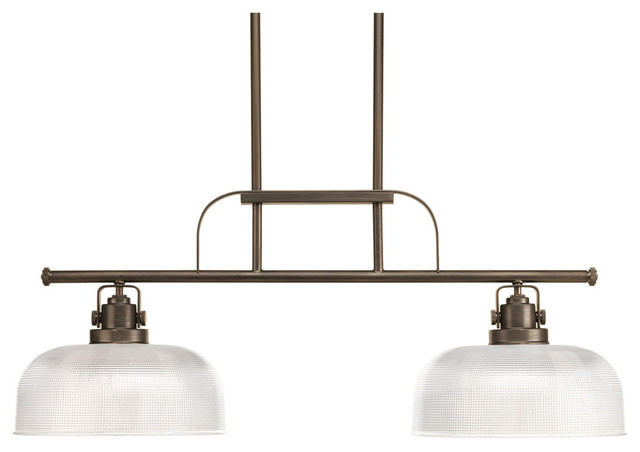 Progress Lighting Archie Collection 2 Light Chandelier Kitchen Island Light