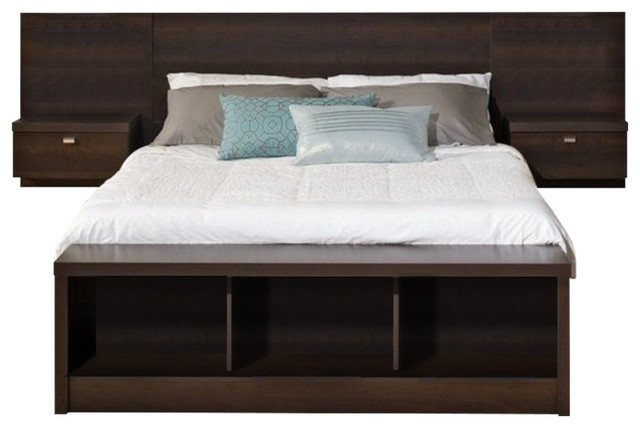 Astonishing Bowery Hill King Platform Storage Bed With Floating Headboard Andrewgaddart Wooden Chair Designs For Living Room Andrewgaddartcom