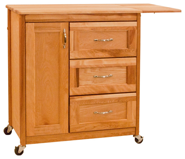 Drawer Cart With Side Drop Leaf Transitional Kitchen Islands And Kitchen Carts By Catskill