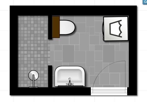 Need help for my shower only bathroom for Bathroom remodel 5x9