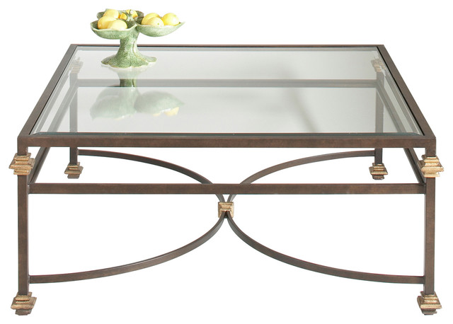 Transitional Coffee Tables chelsea house 14-0307 collar square coffee table 380088