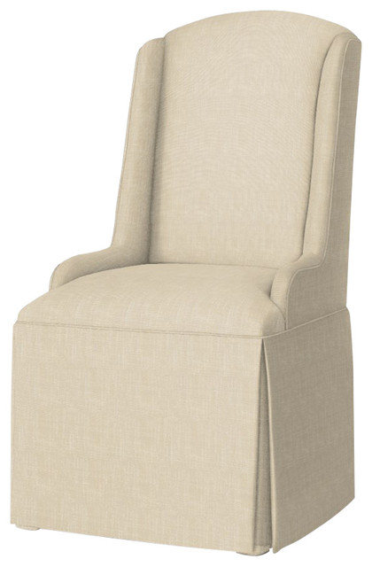 Great Daniella Petite Wing Back Skirted Parsons Chair