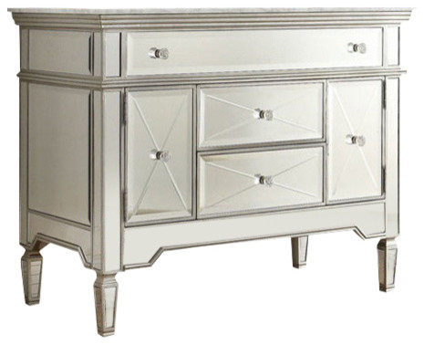 Bathroom Vanities Austin all-mirrored reflection austin bathroom sink vanity, 44