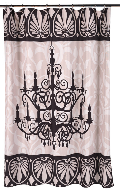 Luminere Fabric Shower Curtain Traditional Shower Curtains By Carnation Home Fashions