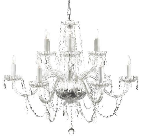 Gallery 385 6 12 Light 2 Tier Murano Venetian Style All Crystal