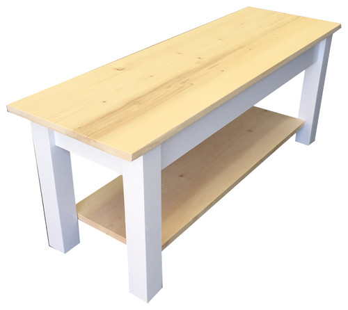 Nantucket Bench With Shelf, 24
