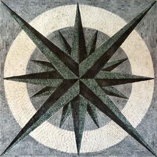 Nautical Mosaic Square Doriis Southwestern Tile