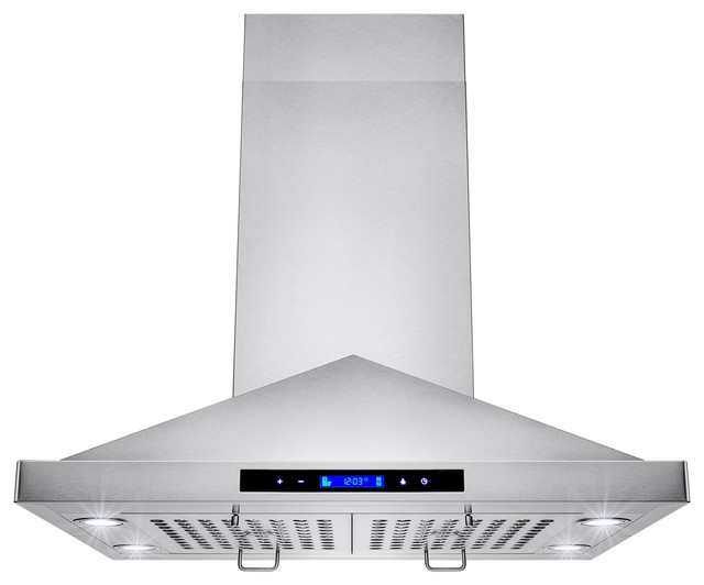 Akdy Agrh0183 Euro Stainless Steel Island Mount Range Hood 30 Duct Pipe