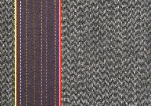 Heringbone Stripes by Paul Smith Granite Fabric