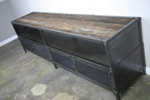 Media Console/Credenza - Urban Modern, Vintage Industrial design. Reclaimed wood