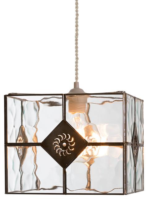 Glass Box Pendant Light