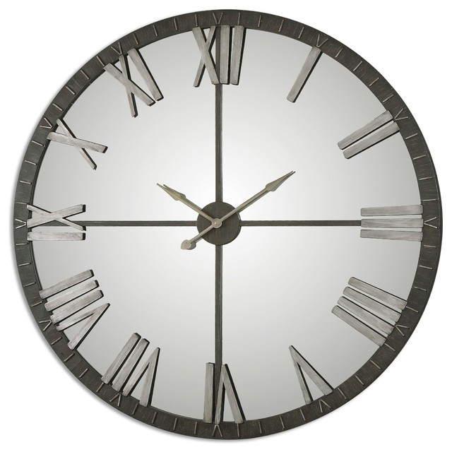 Uttermost 06419 Amelie Large Bronze Wall Clock Contemporary