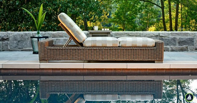 Outdoor furniture for oceanfront houses beach style for Backless double ended chaise longue