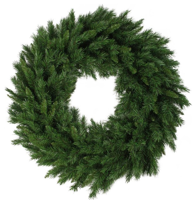 "36"" Lush Mixed Pine Artificial Christmas Wreath."