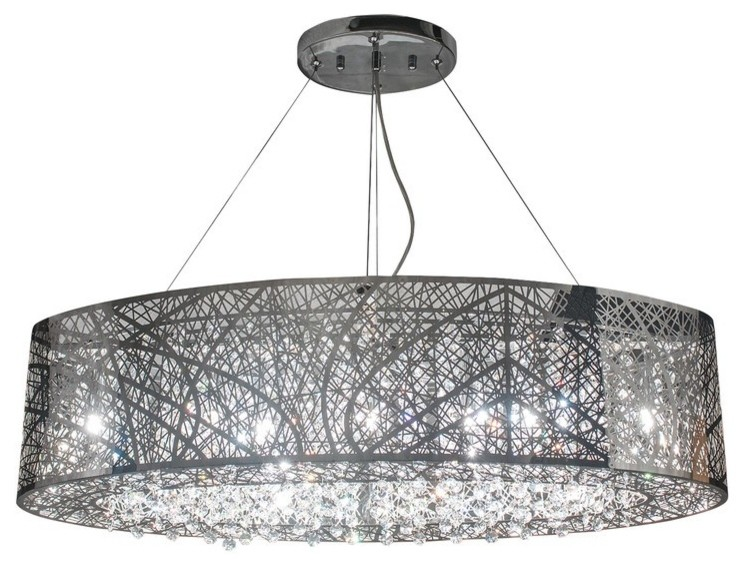 Finesse Decor Crystal Soiree Oblong Chandelier