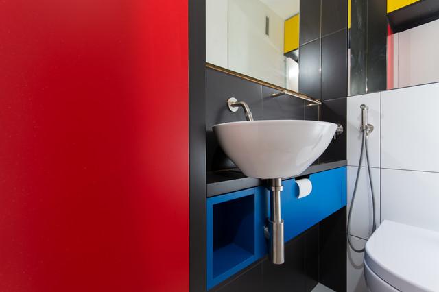 Hell minimalistisch eingerichtet marmor grau badezimmer möbel